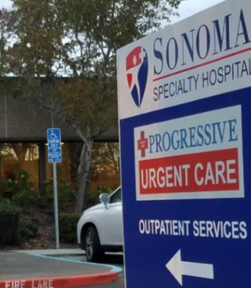 urgent care signboard outpatient service